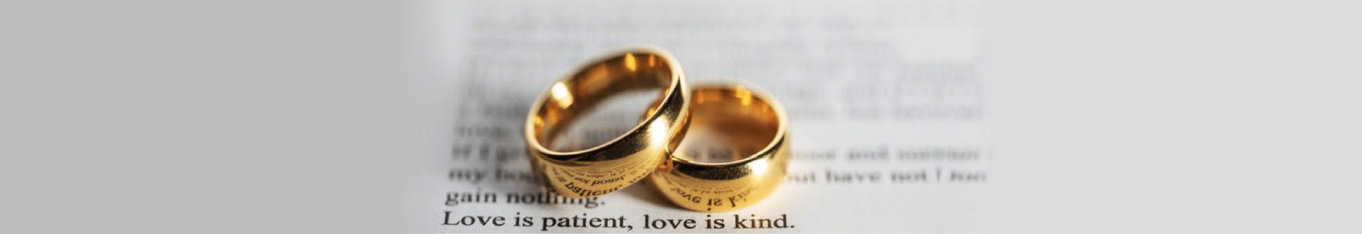 wedding rings on a bible